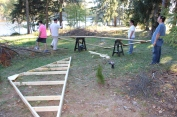 Building a Cabin from Camp Brainerd, Lower Owl Creek Reservoir, Tamaqua, 10-11-2015 (30)