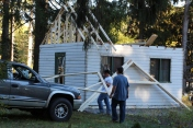 Building a Cabin from Camp Brainerd, Lower Owl Creek Reservoir, Tamaqua, 10-11-2015 (32)