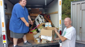 Pictured are volunteers Frankie Latham and Eric Becker.
