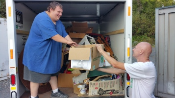 Cleaning Out Tamaqua Giveaway Containers, M & M Self Storage, Tamaqua, 9-22-2015 (8)