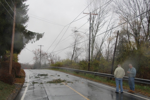 Downed Power Lines, Power Outage, Valley Street, Brockton, 10-28-2015 (47)