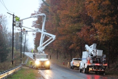 Downed Power Lines, PPL Repairs, Power Outage, Valley Street, Brockton, 10-28-2015 (2)
