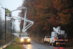 Downed Power Lines, PPL Repairs, Power Outage, Valley Street, Brockton, 10-28-2015 (5)