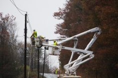 Downed Power Lines, PPL Repairs, Power Outage, Valley Street, Brockton, 10-28-2015 (6)