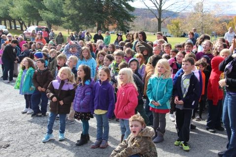 Egg Drop Challenge, 5th Grade, West Penn Elementary School, Tamaqua, 10-30-2015 (1)