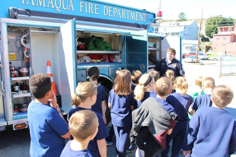 Fire Prevention Program, via Tamaqua Fire Dept, St Jerome School, Tamaqua, 10-6-2015 (60)