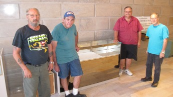 From left are David Green, Charlie Odorizzi, Gary Willing, and society president Dale Freudenberger.