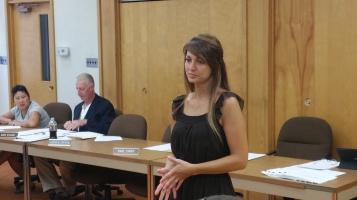 Leona Rega, Award, Tamaqua Borough Council Meeting, Borough Hall, Tamaqua, 9-1-2015 (2)