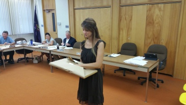 Leona Rega, Award, Tamaqua Borough Council Meeting, Borough Hall, Tamaqua, 9-1-2015 (5)