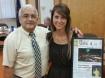 Rega is presented a framed plaque from Tamaqua Borough councilman Tom Cara.