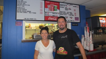 Pictured are Dog Haus owners Chris and Tracey Stegemerten.