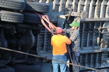 Overturned Tractor Trailer, SR54, Hometown, 10-19-2015 (152)
