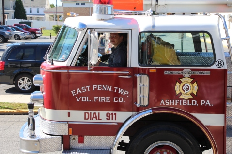 Parade for New Fire Station, Pumper Truck, Boat, Lehighton Fire Department, Lehighton (188)