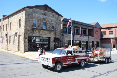 Parade for New Fire Station, Pumper Truck, Boat, Lehighton Fire Department, Lehighton (189)