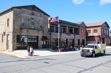 Parade for New Fire Station, Pumper Truck, Boat, Lehighton Fire Department, Lehighton (195)