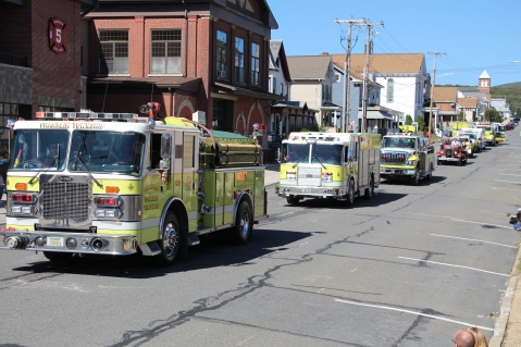 Parade for New Fire Station, Pumper Truck, Boat, Lehighton Fire Department, Lehighton (199)