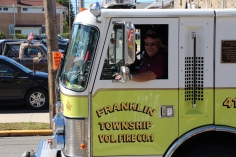 Parade for New Fire Station, Pumper Truck, Boat, Lehighton Fire Department, Lehighton (201)