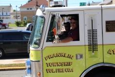 Parade for New Fire Station, Pumper Truck, Boat, Lehighton Fire Department, Lehighton (203)
