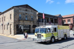 Parade for New Fire Station, Pumper Truck, Boat, Lehighton Fire Department, Lehighton (204)