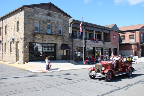 Parade for New Fire Station, Pumper Truck, Boat, Lehighton Fire Department, Lehighton (210)