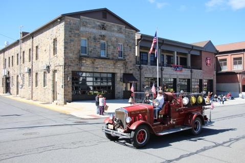 Parade for New Fire Station, Pumper Truck, Boat, Lehighton Fire Department, Lehighton (211)