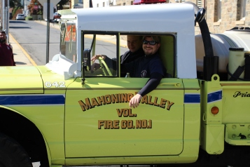 Parade for New Fire Station, Pumper Truck, Boat, Lehighton Fire Department, Lehighton (218)