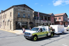 Parade for New Fire Station, Pumper Truck, Boat, Lehighton Fire Department, Lehighton (219)