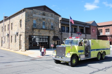 Parade for New Fire Station, Pumper Truck, Boat, Lehighton Fire Department, Lehighton (229)