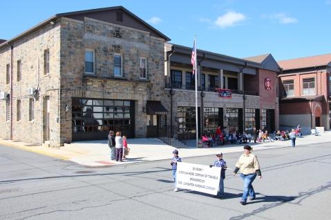 Parade for New Fire Station, Pumper Truck, Boat, Lehighton Fire Department, Lehighton (232)