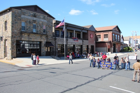 Parade for New Fire Station, Pumper Truck, Boat, Lehighton Fire Department, Lehighton (233)