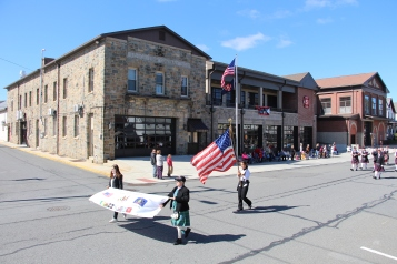 Parade for New Fire Station, Pumper Truck, Boat, Lehighton Fire Department, Lehighton (240)