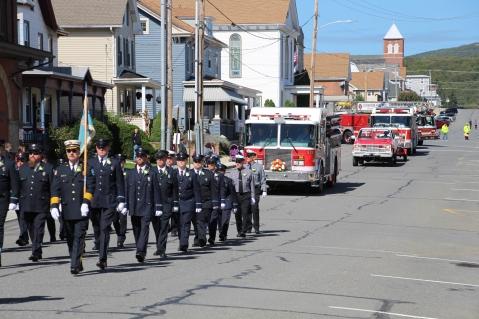 Parade for New Fire Station, Pumper Truck, Boat, Lehighton Fire Department, Lehighton (25)