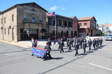 Parade for New Fire Station, Pumper Truck, Boat, Lehighton Fire Department, Lehighton (250)
