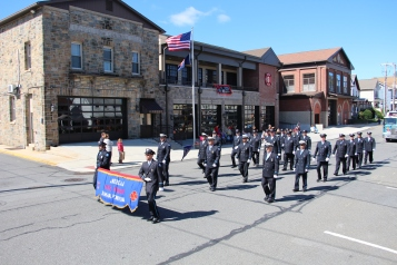 Parade for New Fire Station, Pumper Truck, Boat, Lehighton Fire Department, Lehighton (251)