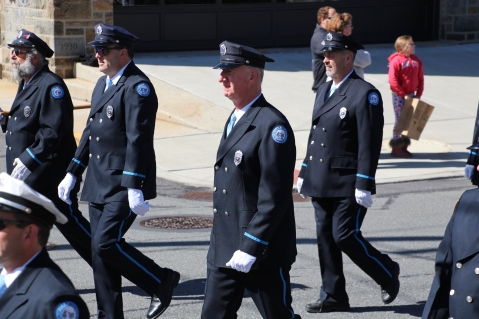 Parade for New Fire Station, Pumper Truck, Boat, Lehighton Fire Department, Lehighton (265)