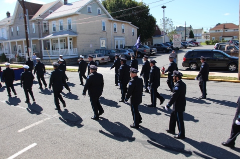 Parade for New Fire Station, Pumper Truck, Boat, Lehighton Fire Department, Lehighton (277)