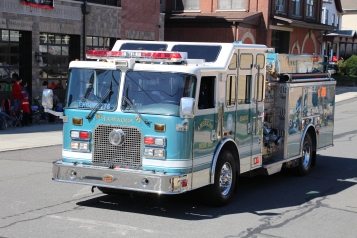 Parade for New Fire Station, Pumper Truck, Boat, Lehighton Fire Department, Lehighton (284)