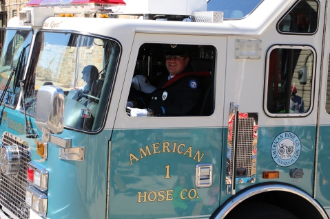 Parade for New Fire Station, Pumper Truck, Boat, Lehighton Fire Department, Lehighton (287)