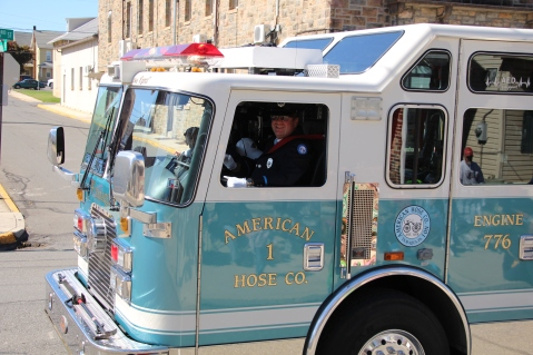Parade for New Fire Station, Pumper Truck, Boat, Lehighton Fire Department, Lehighton (288)
