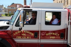 Parade for New Fire Station, Pumper Truck, Boat, Lehighton Fire Department, Lehighton (291)