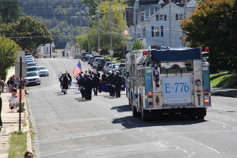 Parade for New Fire Station, Pumper Truck, Boat, Lehighton Fire Department, Lehighton (299)