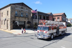 Parade for New Fire Station, Pumper Truck, Boat, Lehighton Fire Department, Lehighton (300)