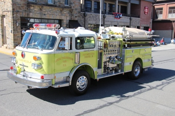 Parade for New Fire Station, Pumper Truck, Boat, Lehighton Fire Department, Lehighton (305)