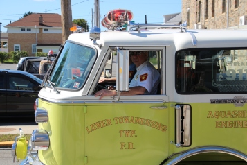 Parade for New Fire Station, Pumper Truck, Boat, Lehighton Fire Department, Lehighton (306)