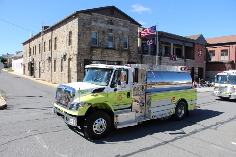 Parade for New Fire Station, Pumper Truck, Boat, Lehighton Fire Department, Lehighton (309)