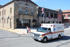 Parade for New Fire Station, Pumper Truck, Boat, Lehighton Fire Department, Lehighton (315)