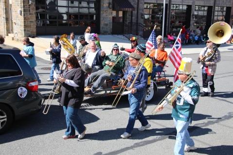 Parade for New Fire Station, Pumper Truck, Boat, Lehighton Fire Department, Lehighton (331)