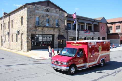 Parade for New Fire Station, Pumper Truck, Boat, Lehighton Fire Department, Lehighton (342)