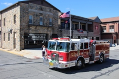 Parade for New Fire Station, Pumper Truck, Boat, Lehighton Fire Department, Lehighton (345)