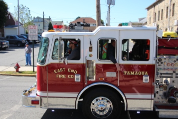 Parade for New Fire Station, Pumper Truck, Boat, Lehighton Fire Department, Lehighton (350)